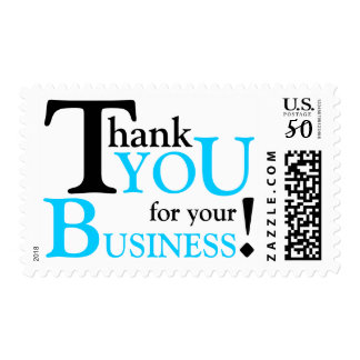"""Black & Blue """"Thank you for your Business"""" Postage"""