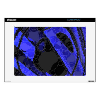 "Black Blue Unique Abstract 15"" Laptop Decal"
