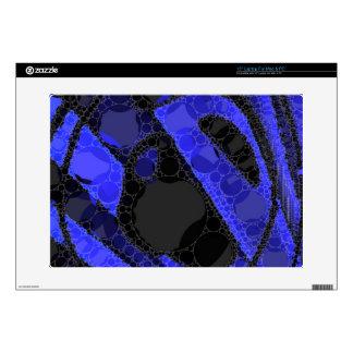 "Black Blue Unique Abstract 15"" Laptop Decal"