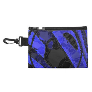 Black Blue Unique Abstract Accessory Bags