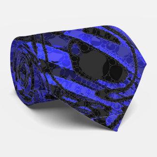 Black Blue Unique Abstract Tie