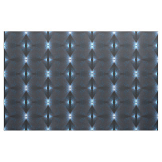 Black Blue White Abstract Geometric Pattern Fabric