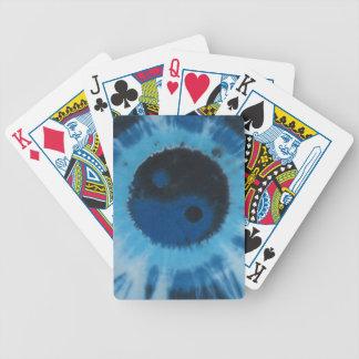 Black Blue Yin Yang Tie Dye Bicycle Playing Cards