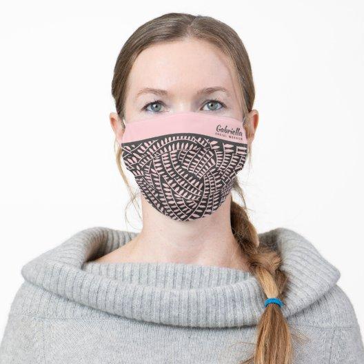 blackpink face mask Black Pink Pattern Custom Name leaf pattern Mask