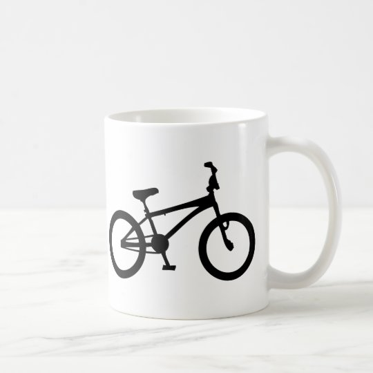 black bmx bicycle coffee mug