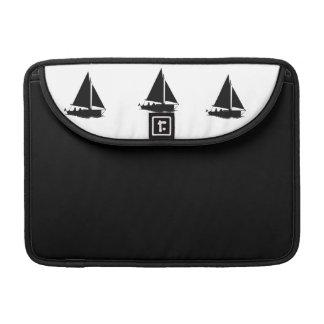Black Boat Silhouette Macbook Case