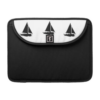 Black Boat Silhouette Macbook Case Sleeve For MacBook Pro