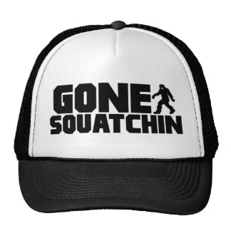 Black Bobo GONE SQUATCHIN Hat Finding Bigfoot