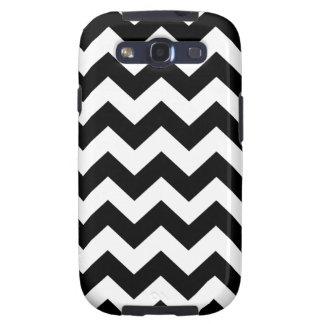 Black Bold Chevron Stripes Galaxy S3 Covers
