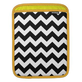 Black Bold Chevron Stripes iPad Sleeve
