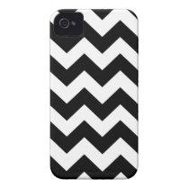 Black Bold Chevron Stripes iPhone 4 Case