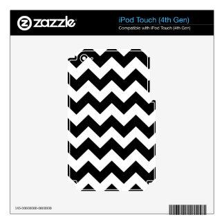 Black Bold Chevron Stripes iPod Touch 4G Decal