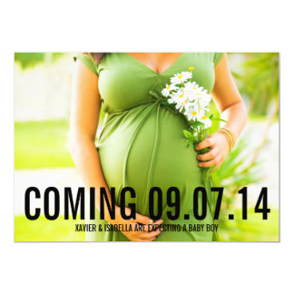 Black Bold | Custom Text Pregnancy Announcement