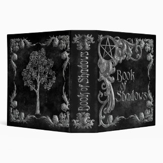 "Black ""Book Of Shadows"" w/ Silver Highlights #1-L 3 Ring Binder"