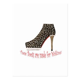 Black Boot Postcard