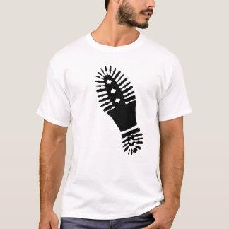 Black Bootprint (large) T-Shirt