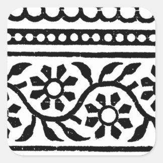 Black-Border Square Sticker
