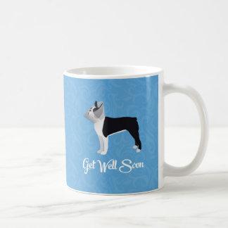Black Boston Terrier Get Well Soon Funny Dog Coffee Mug