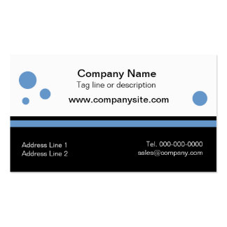 Black Bottom Business Card Templates