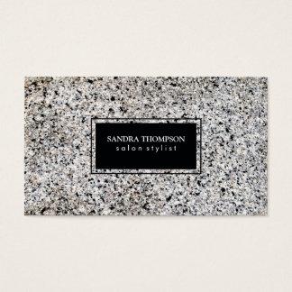 Black boundary trim / stone business card