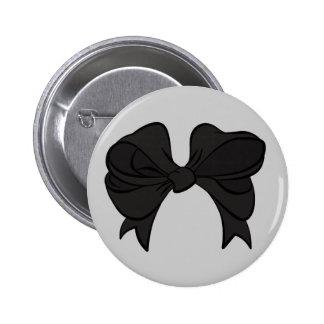Black Bow Button