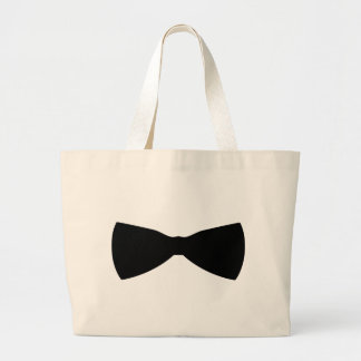 black bow tie canvas bag