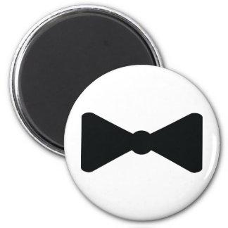 black bow tie icon 2 inch round magnet