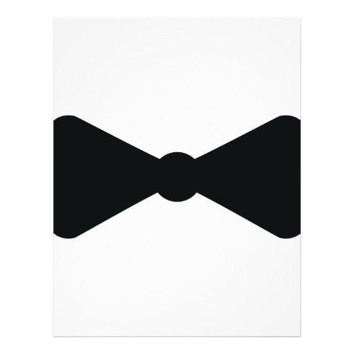 black bow tie icon flyer