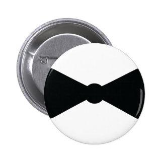 black bow tie icon pinback button