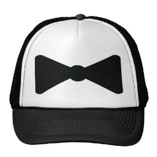 black bow tie icon trucker hat
