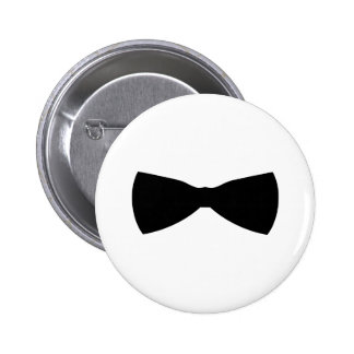 black bow tie pinback button