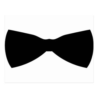 black bow tie post card
