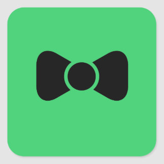 Black bow tie square sticker