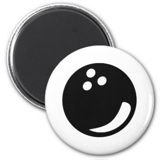black bowling ball 2 inch round magnet