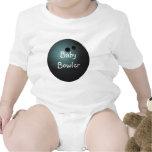 Black Bowling Ball Baby Shirt