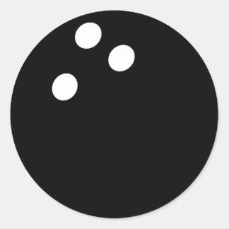 black bowling ball icon classic round sticker