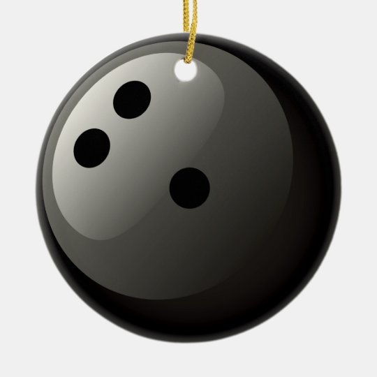 Black Bowling Ball Ornament Zazzle Com