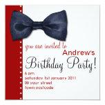 Black BowTie Birthday Invitation