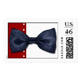 Black BowTie Postage Stamp stamp