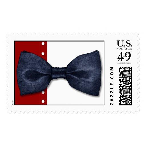 Black BowTie Postage Stamp