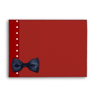 Black BowTie red Card Envelope envelope