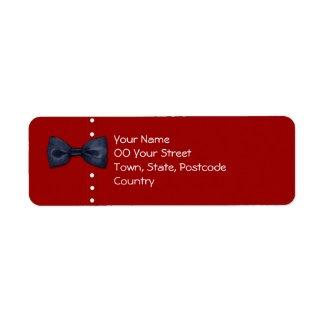 Black BowTie red Return Address Label label