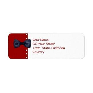 Black BowTie Return Address Label label