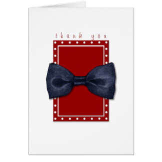 Black Bowtie Thank You Note Card