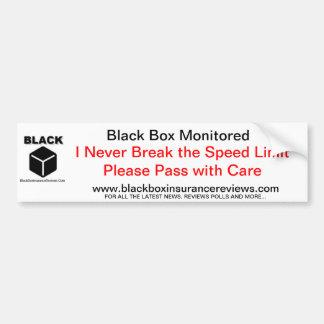 Black Box Car Sticker - Speed Limit