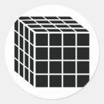 black box icon classic round sticker