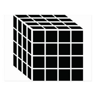 black box icon postcard