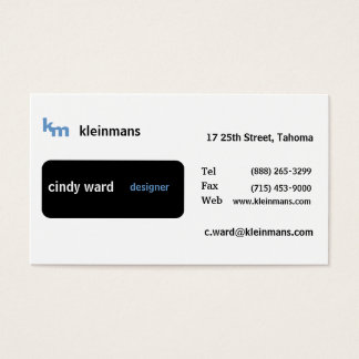 Black Box Minimal Business Card