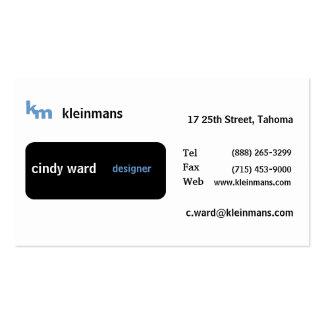 Black Box Minimal Business Card Templates