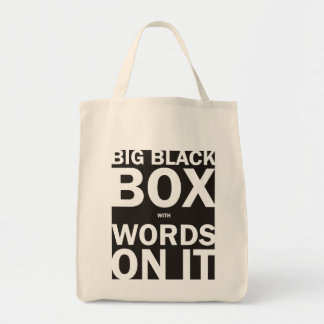 Black Box with Words bag